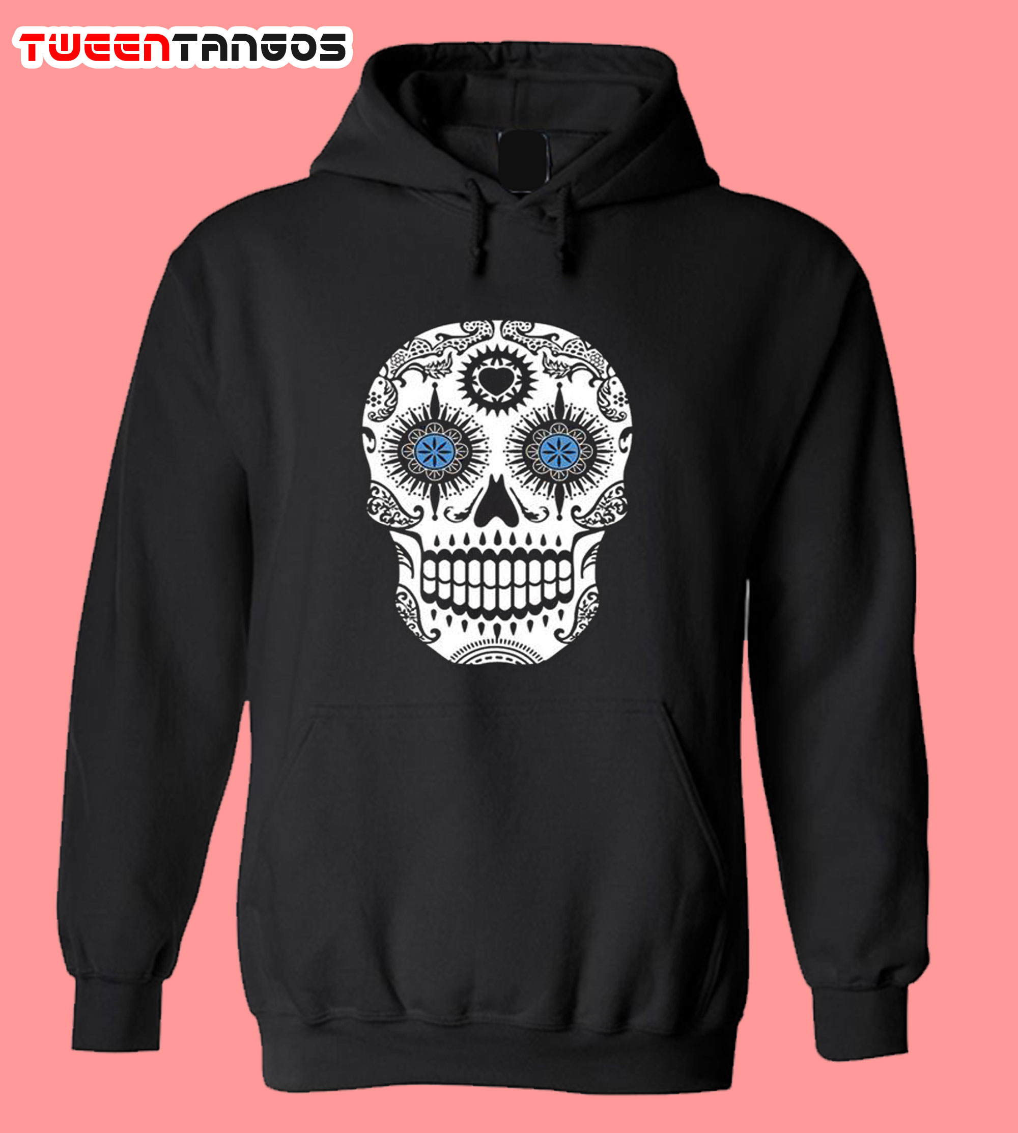 Sugar Skull Roses Eyes Day of The Dead Hoodie