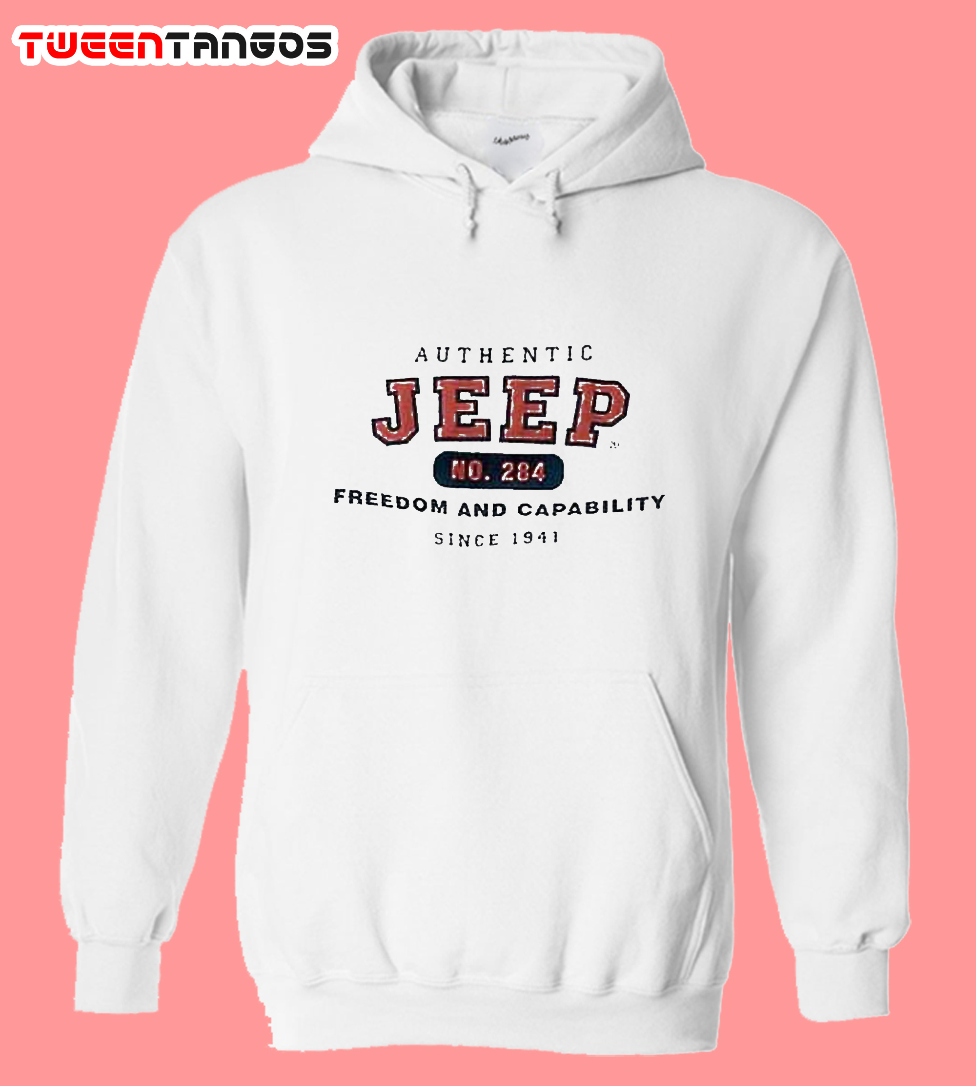 Authentic Jeep White Hoodie