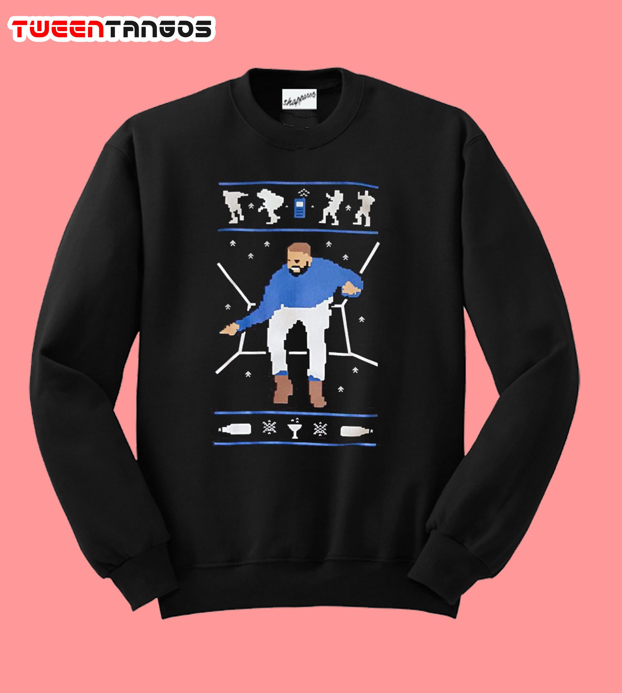 1800 Hotline Bling Ugly Christmas Drake Sweatshirt
