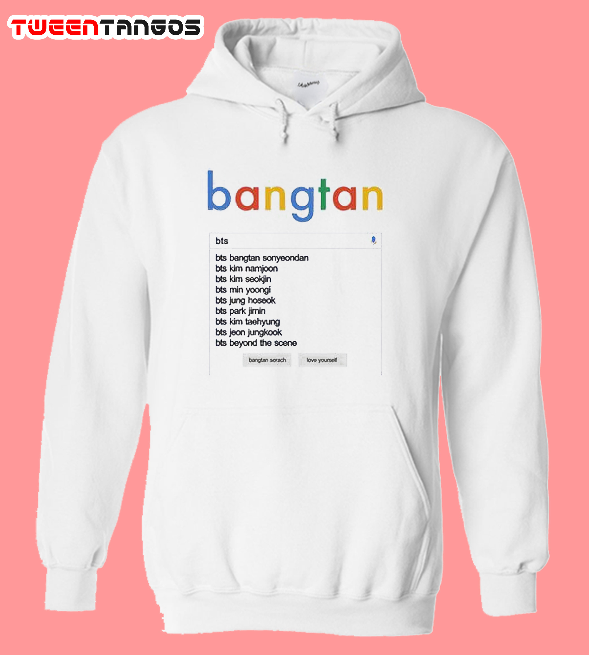 BTS Google Search Hoodie