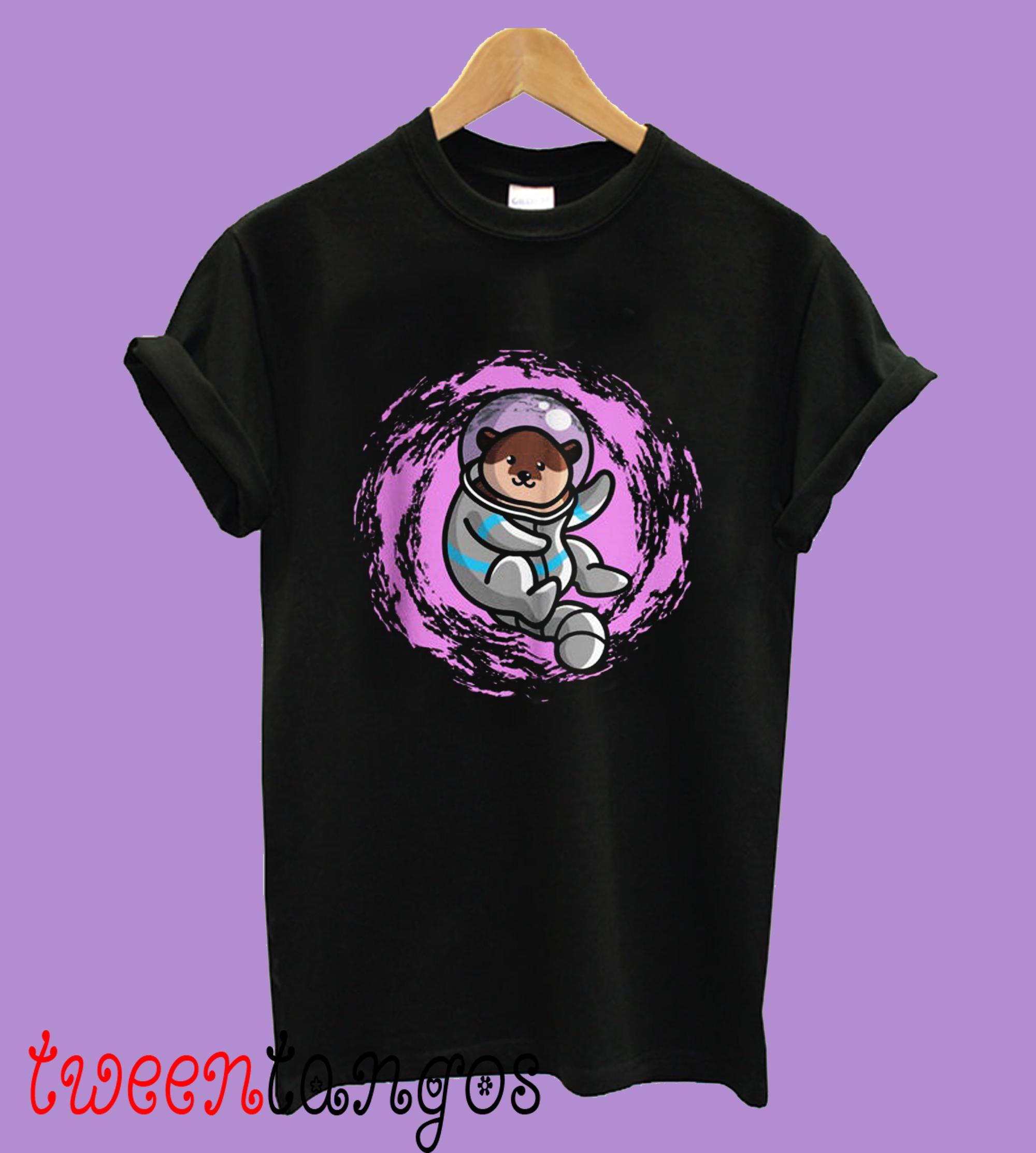 Women's The Cosmic Otter Black Shirt