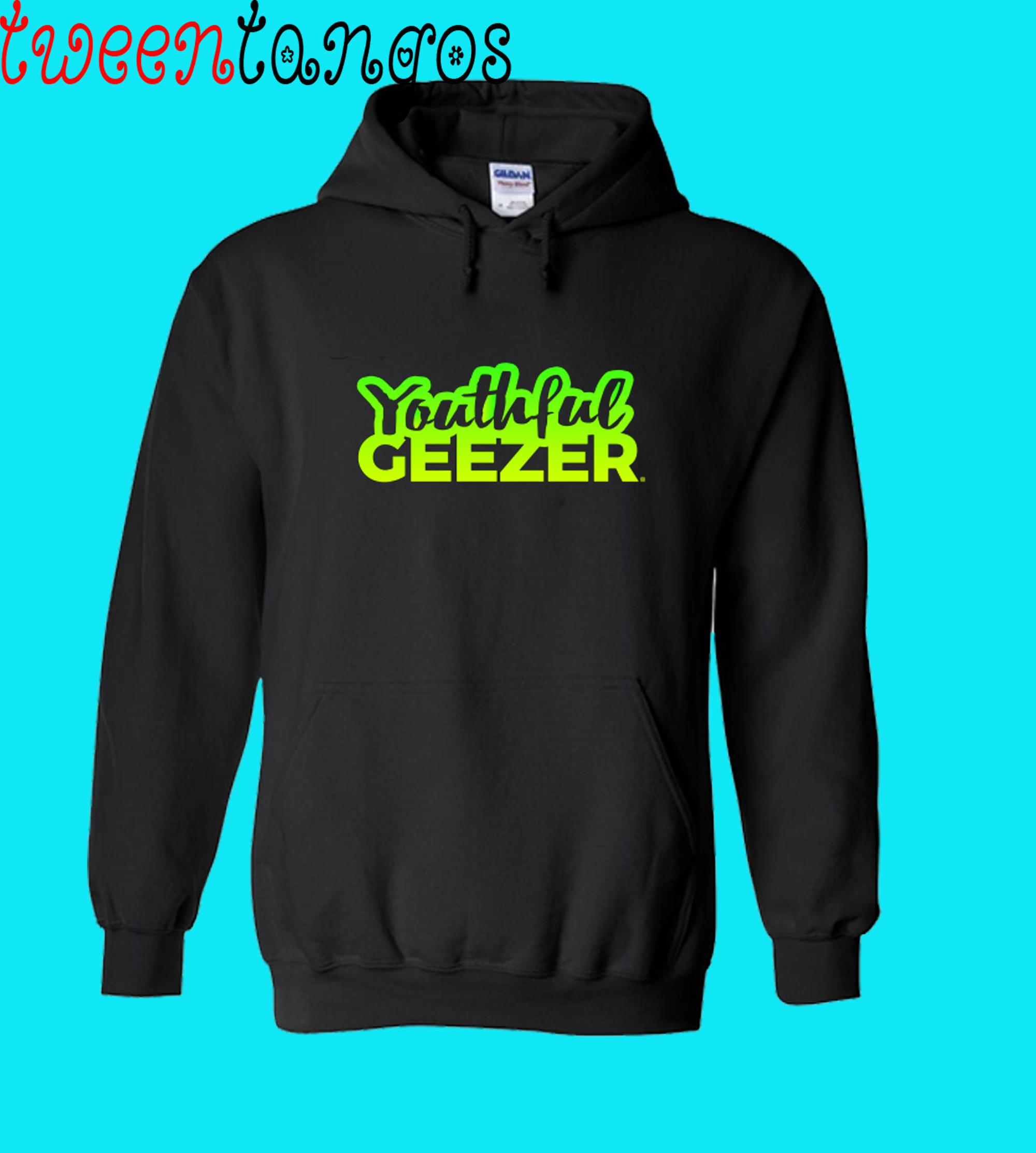 Youthful Geezer Brand Logo Bright Green,Yellow Hoodie