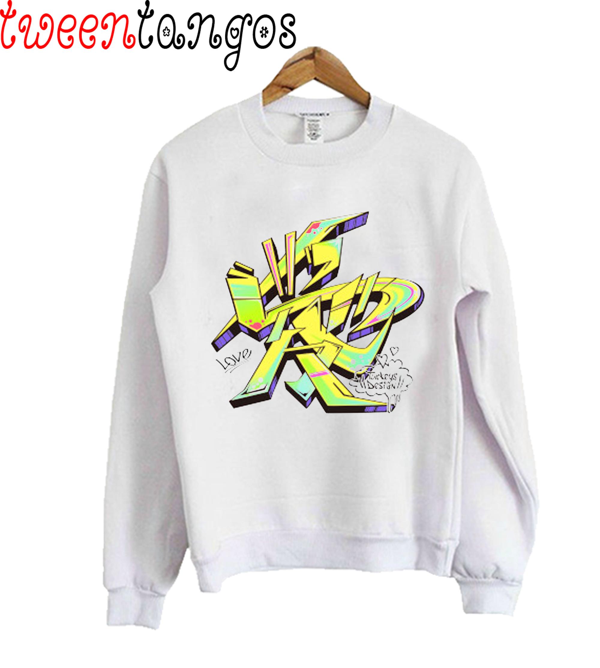 Japanese KANJI Graffiti AI (Electro Yellow) Sweatshirt